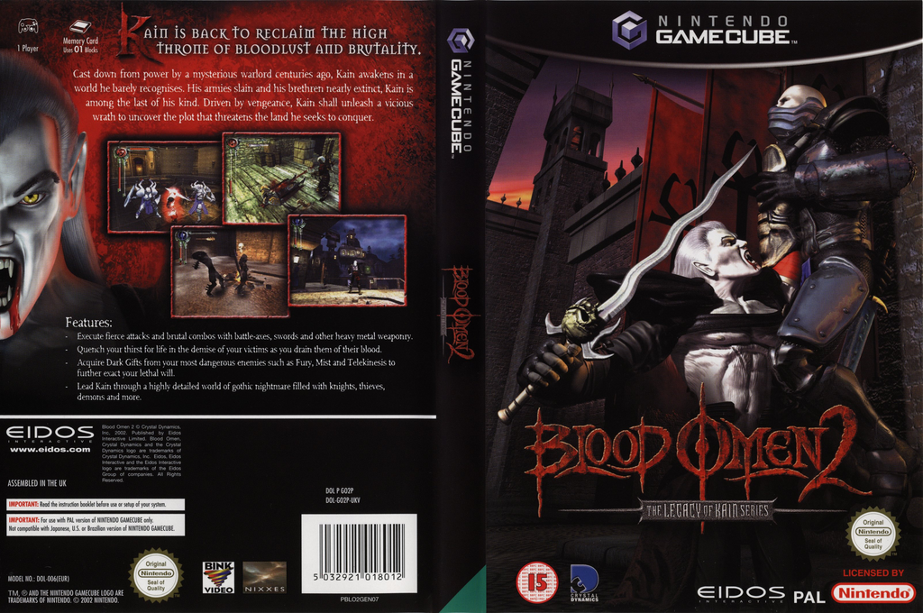 Blood Omen 2: The Legacy of Kain Series Wii coverfullHQ (GO2P4F)