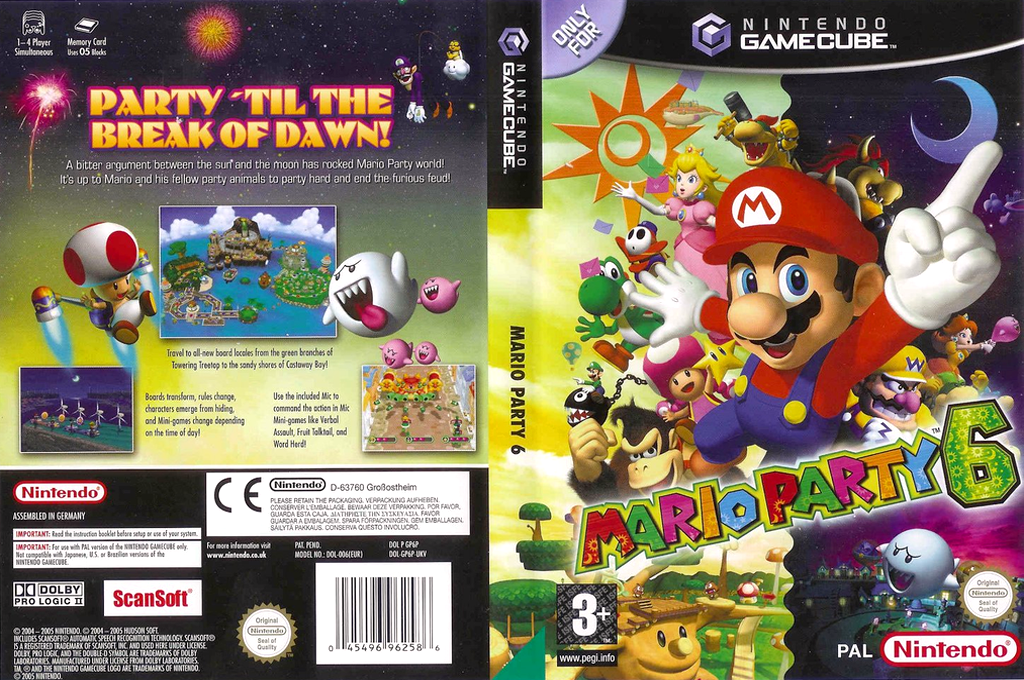 Mario Party 6 Wii coverfullHQ (GP6P01)