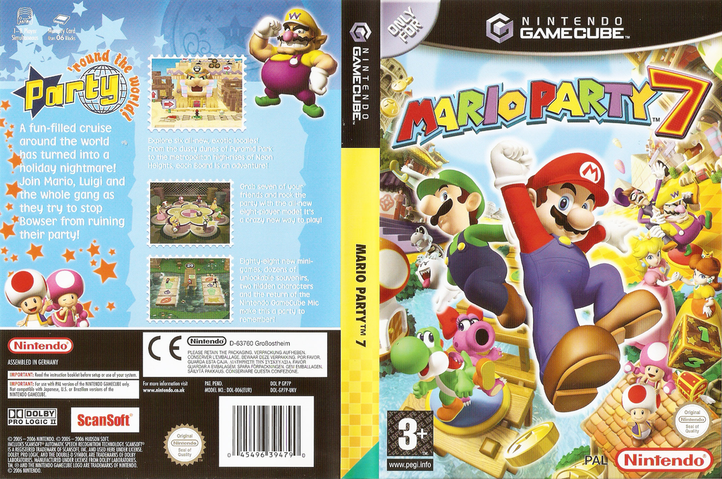 Mario Party 7 Wii coverfullHQ (GP7P01)