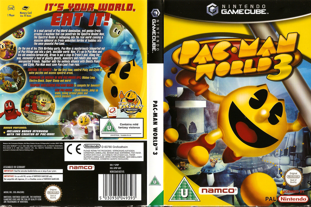 Pac-Man World 3 Wii coverfullHQ (GP8P69)