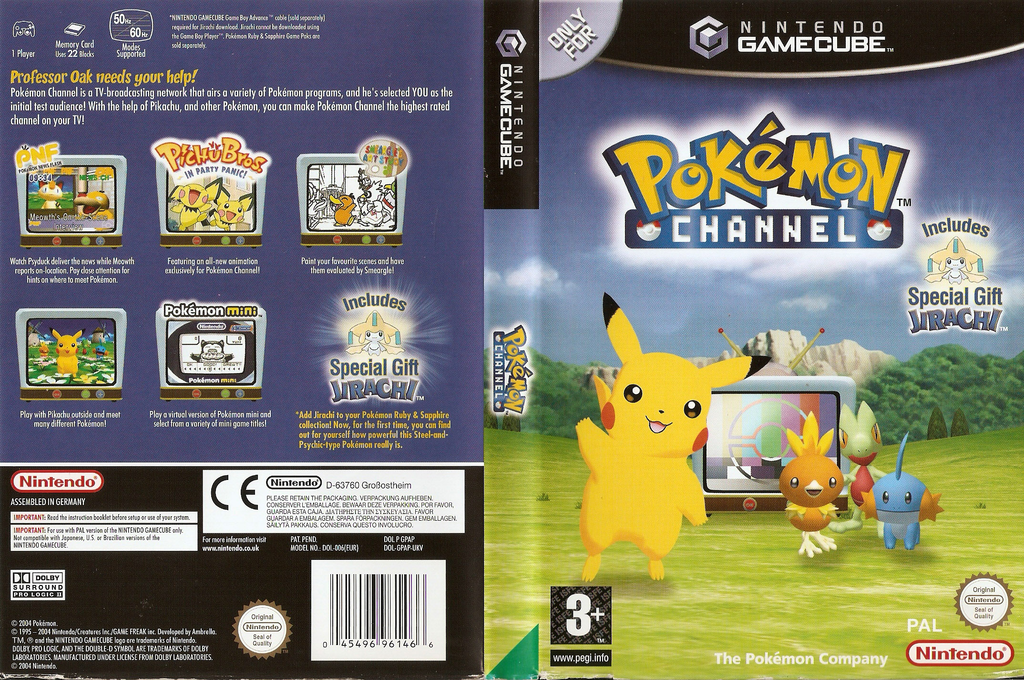 Pokémon Channel Wii coverfullHQ (GPAP01)