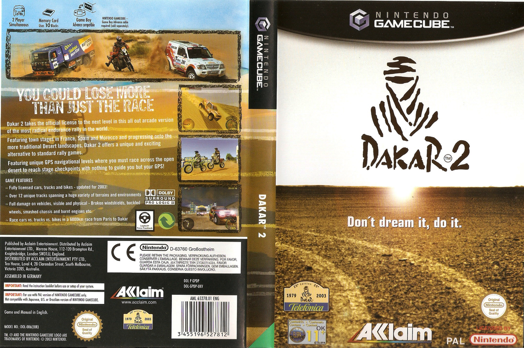 Dakar 2: The World's Ultimate Rally Wii coverfullHQ (GPDP51)