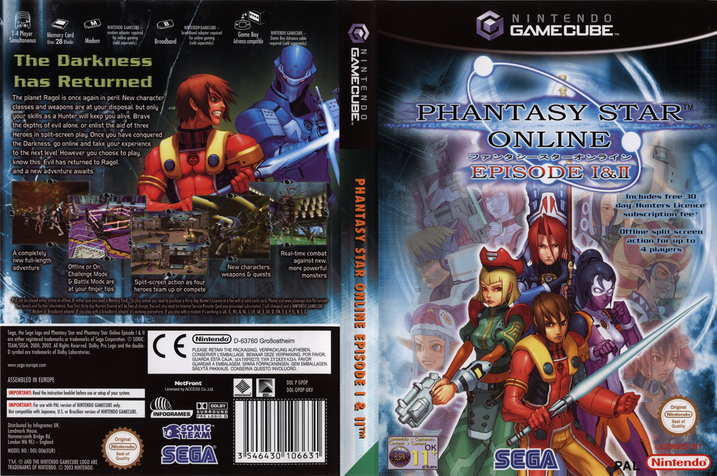 Phantasy Star Online Episode I&II Wii coverfullHQ (GPOP8P)