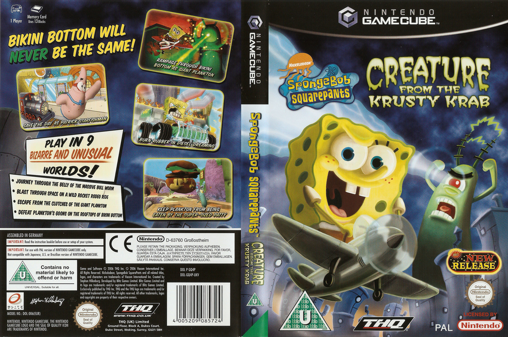 SpongeBob SquarePants: Creature from the Krusty Krab Wii coverfullHQ (GQ4P78)