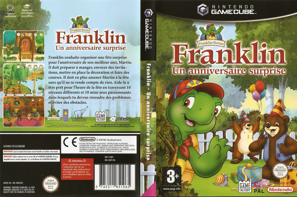 Franklin: A Birthday Surprise Wii coverfullHQ (GQFFFK)