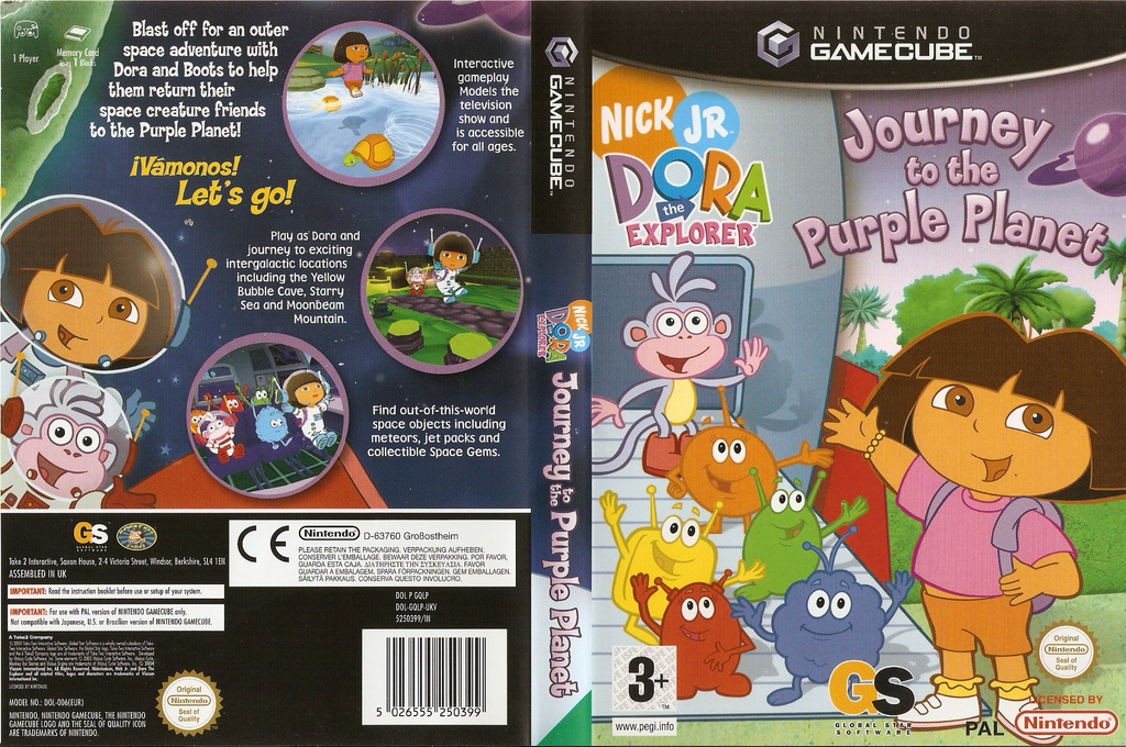 Dora the Explorer: Journey to the Purple Planet Wii coverfullHQ (GQLP54)