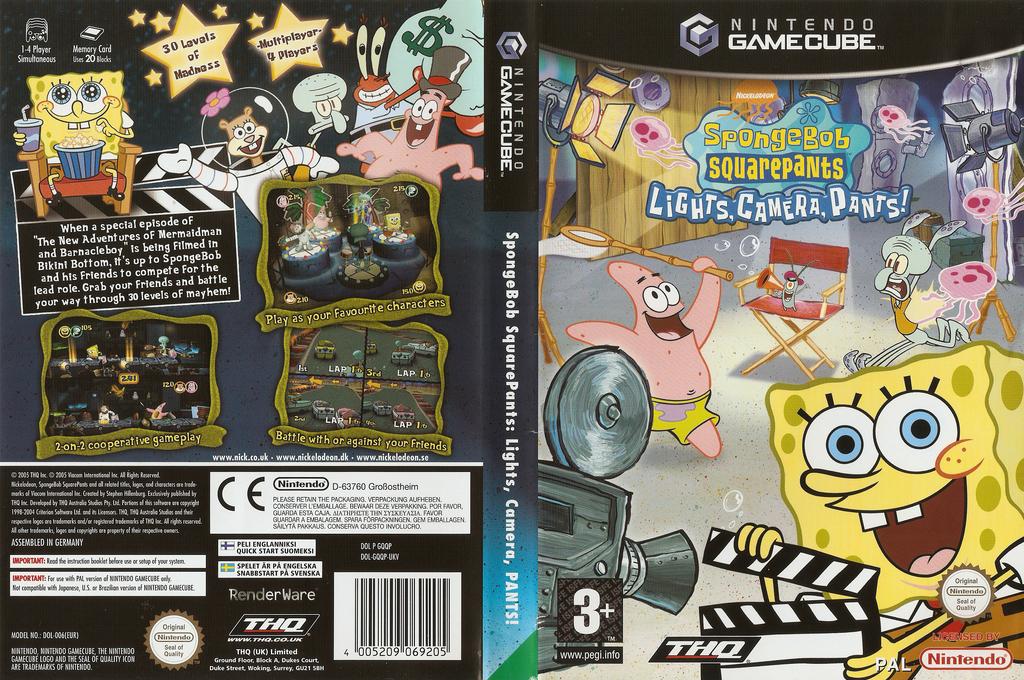 SpongeBob SquarePants: Lights, Camera, Pants! Wii coverfullHQ (GQQP78)