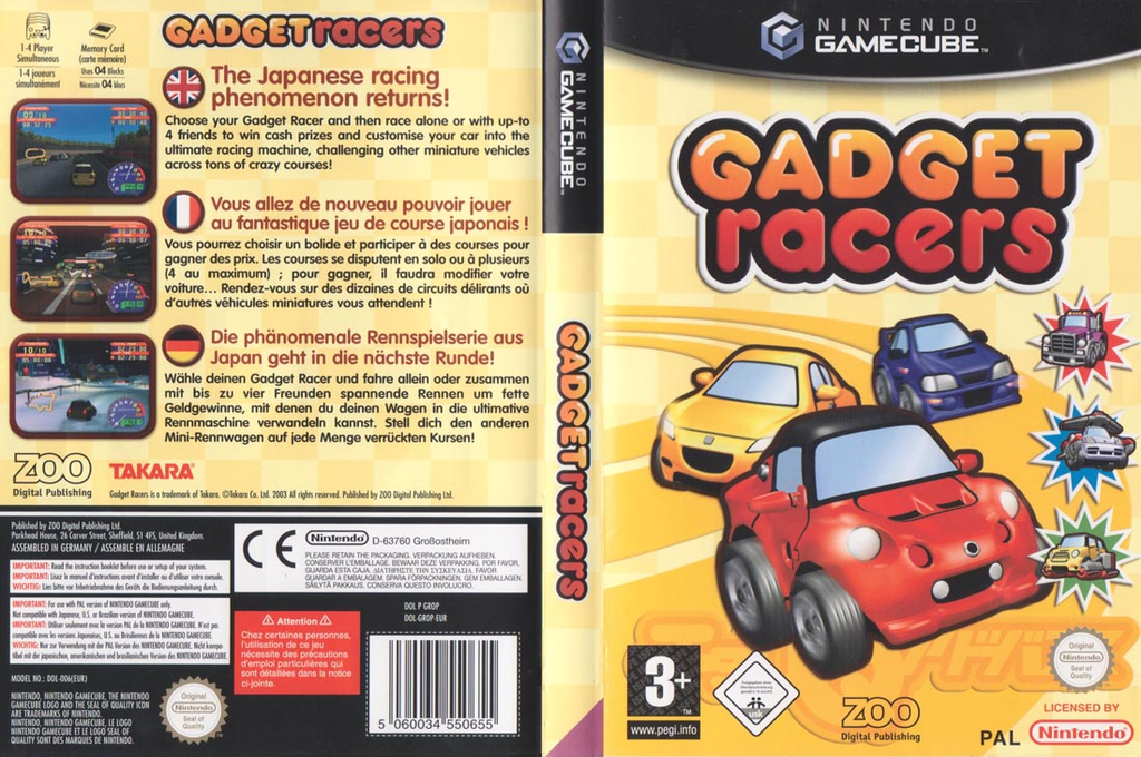 Gadget Racers Wii coverfullHQ (GROP7J)