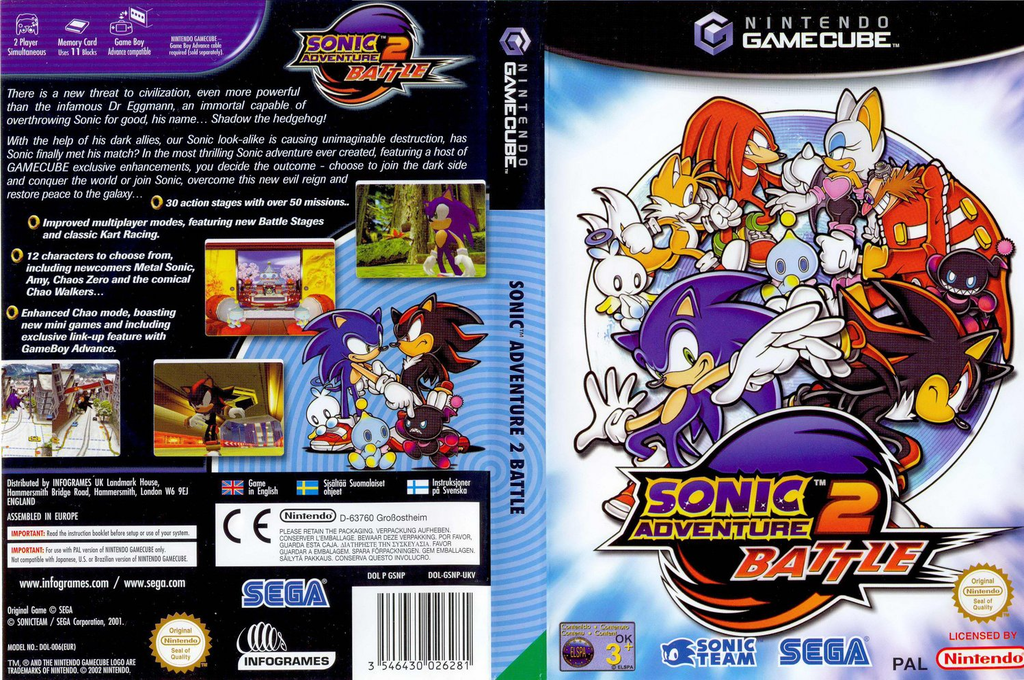 Sonic Adventure 2: Battle Wii coverfullHQ (GSNP8P)