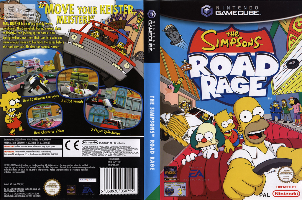 The Simpsons: Road Rage Wii coverfullHQ (GSPP69)