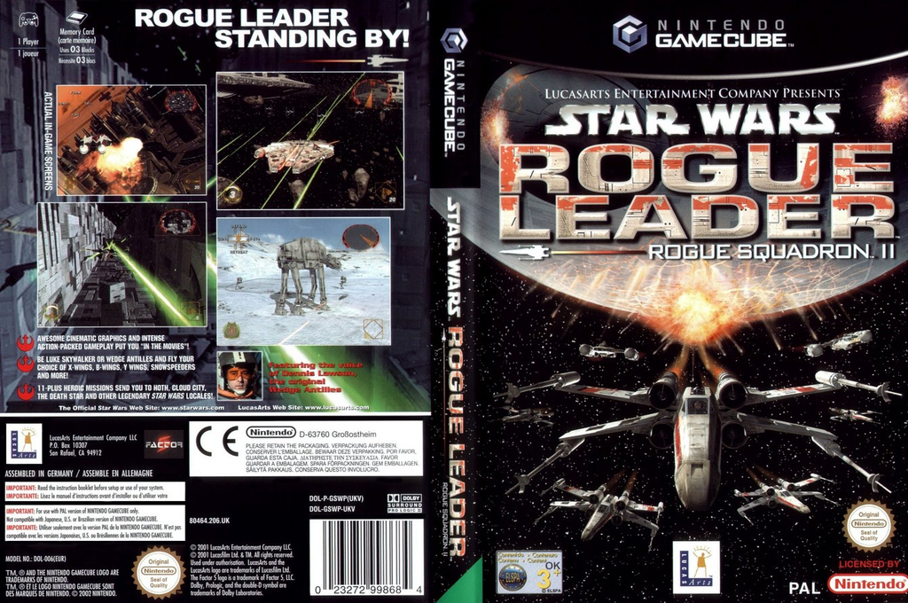 Star Wars Rogue Squadron II: Rogue Leader Wii coverfullHQ (GSWP64)