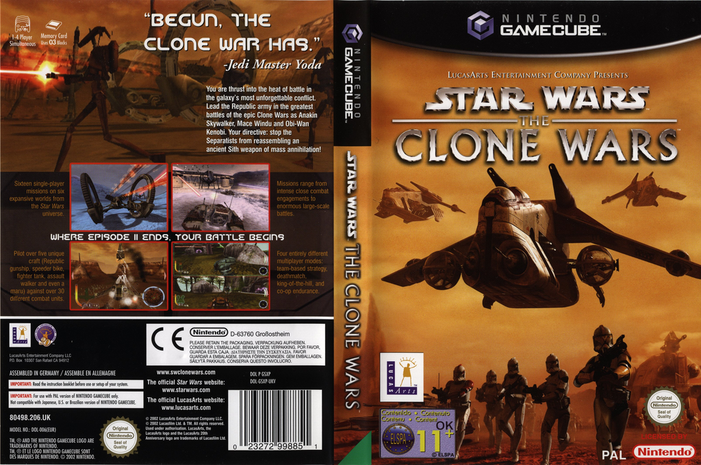 Star Wars: The Clone Wars Wii coverfullHQ (GSXP64)