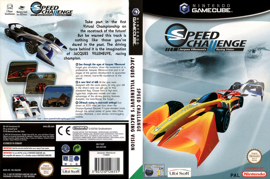 Speed Challenge: Jacques Villeneuve Racing Vision Wii coverfullHQ (GSZP41)