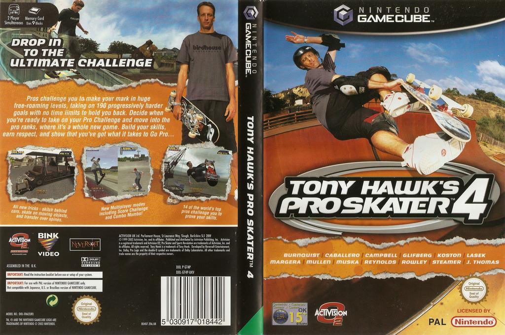 Tony Hawk's Pro Skater 4 Wii coverfullHQ (GT4P52)