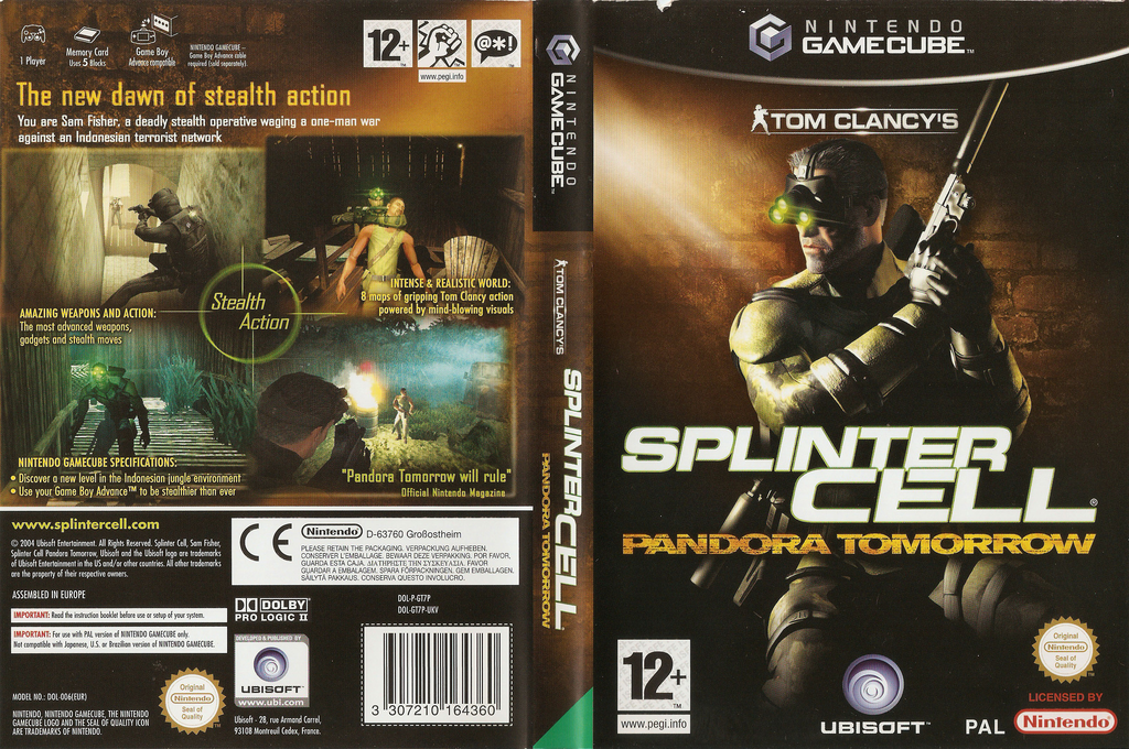 Tom Clancy's Splinter Cell: Pandora Tomorrow Wii coverfullHQ (GT7P41)