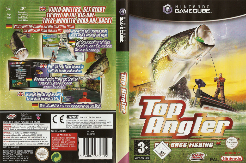 Top Angler:Real Bass Fishing Wii coverfullHQ (GTAP5S)