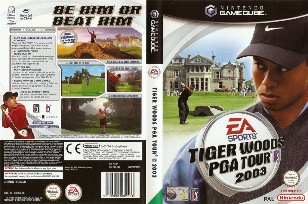 Tiger Woods PGA Tour 2003 Wii coverfullHQ (GTIP69)