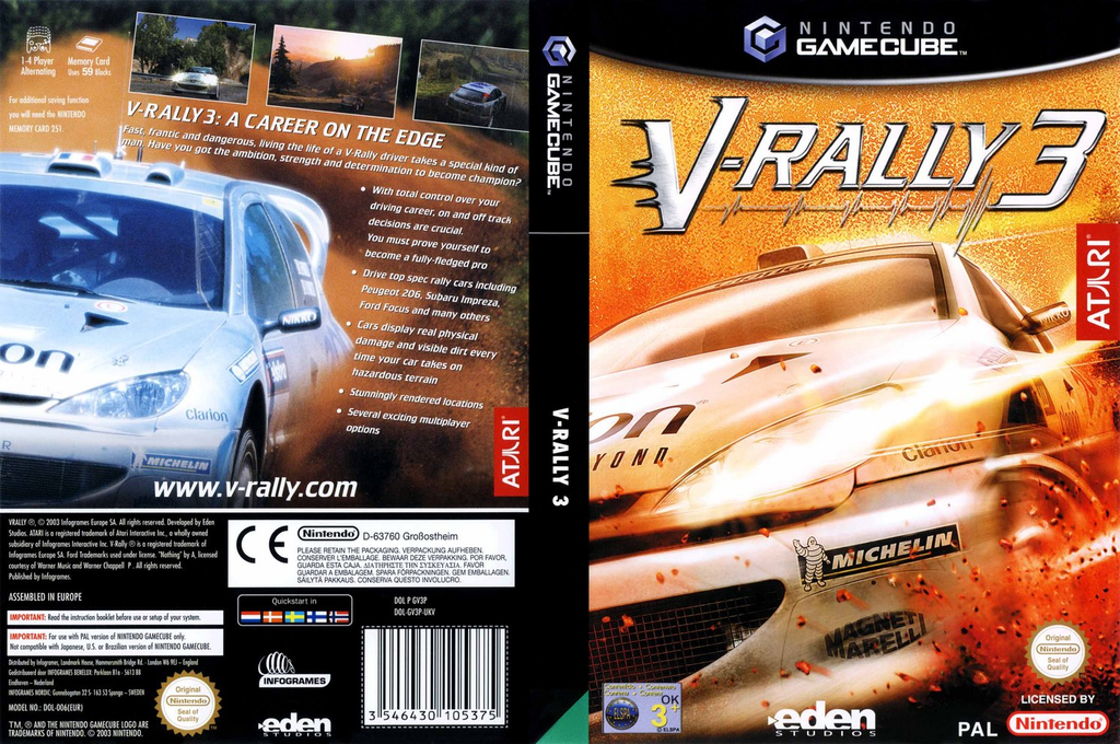 V-Rally 3 Wii coverfullHQ (GV3P70)