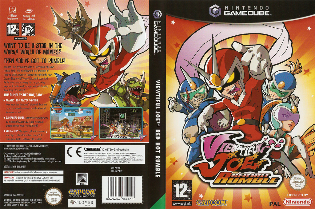 Viewtiful Joe: Red Hot Rumble Wii coverfullHQ (GVCP08)
