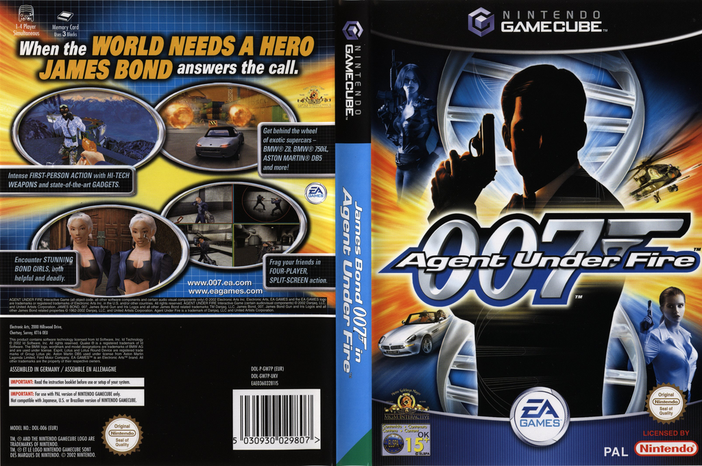 James Bond 007 in Agent Under Fire Wii coverfullHQ (GW7P69)