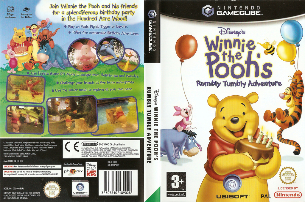 Winnie the Pooh's Rumbly Tumbly Adventure Array coverfullHQ (GWHP41)