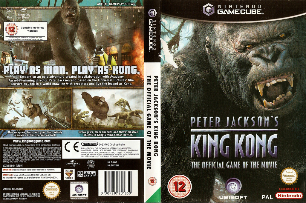 Peter Jackson's King Kong: The Official Game of the Movie Wii coverfullHQ (GWKP41)