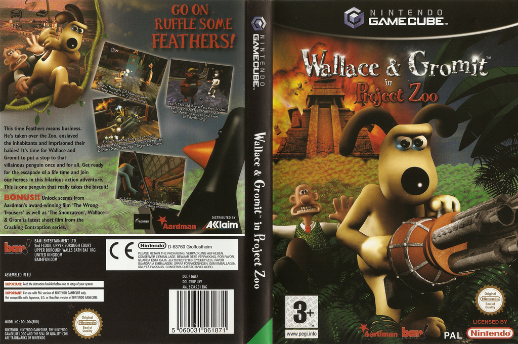 Wallace & Gromit : Project Zoo Wii coverfullHQ (GWLP6L)
