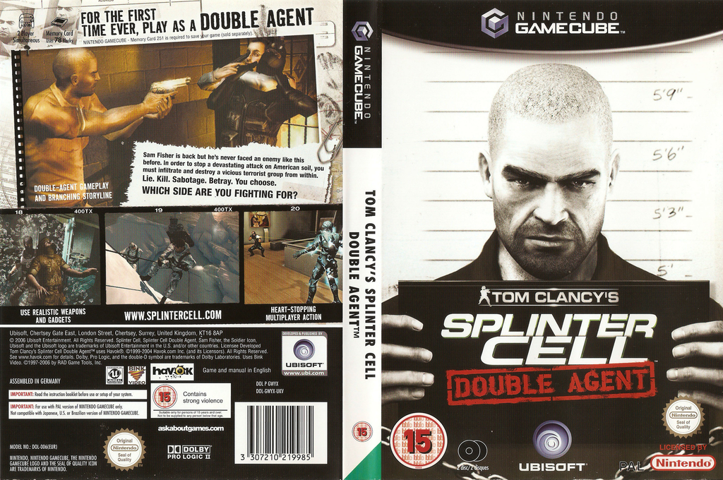 Tom Clancy's Splinter Cell: Double Agent Array coverfullHQ (GWYX41)
