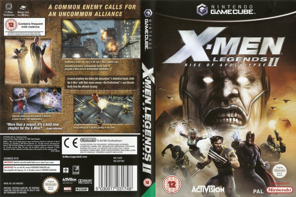 X-Men Legends II: Rise of Apocalypse Wii coverfullHQ (GX2P52)