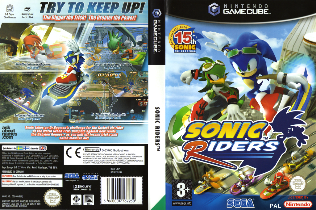 Sonic Riders Wii coverfullHQ (GXEP8P)