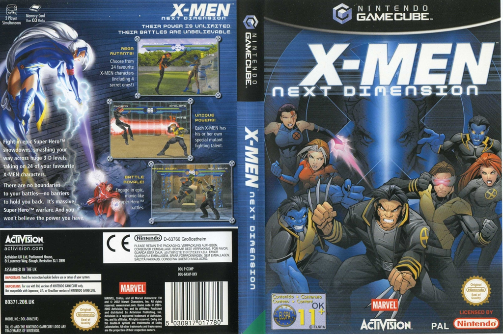 X-Men: Next Dimension Wii coverfullHQ (GXMP52)