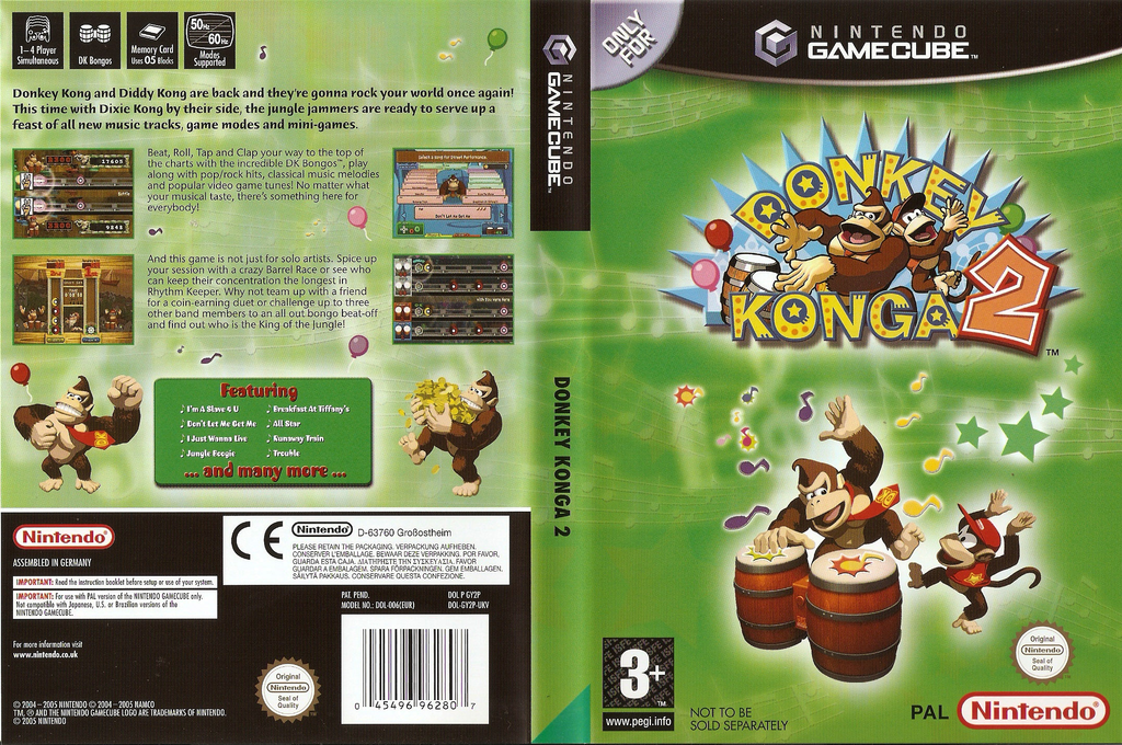Donkey Konga 2 Wii coverfullHQ (GY2P01)