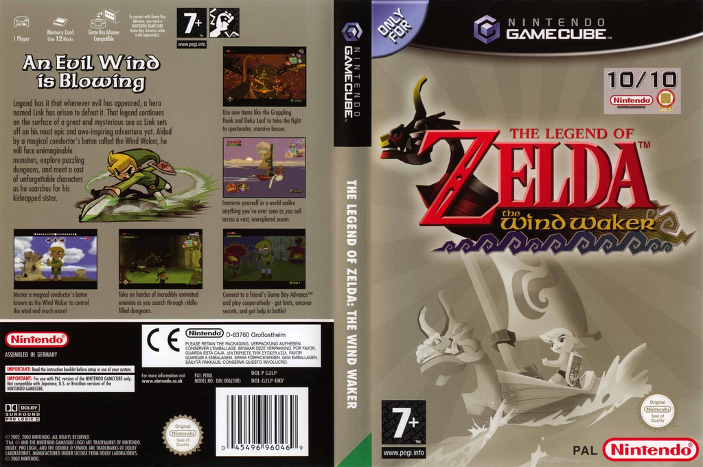 The Legend of Zelda: The Wind Waker Array coverfullHQ (GZLP01)