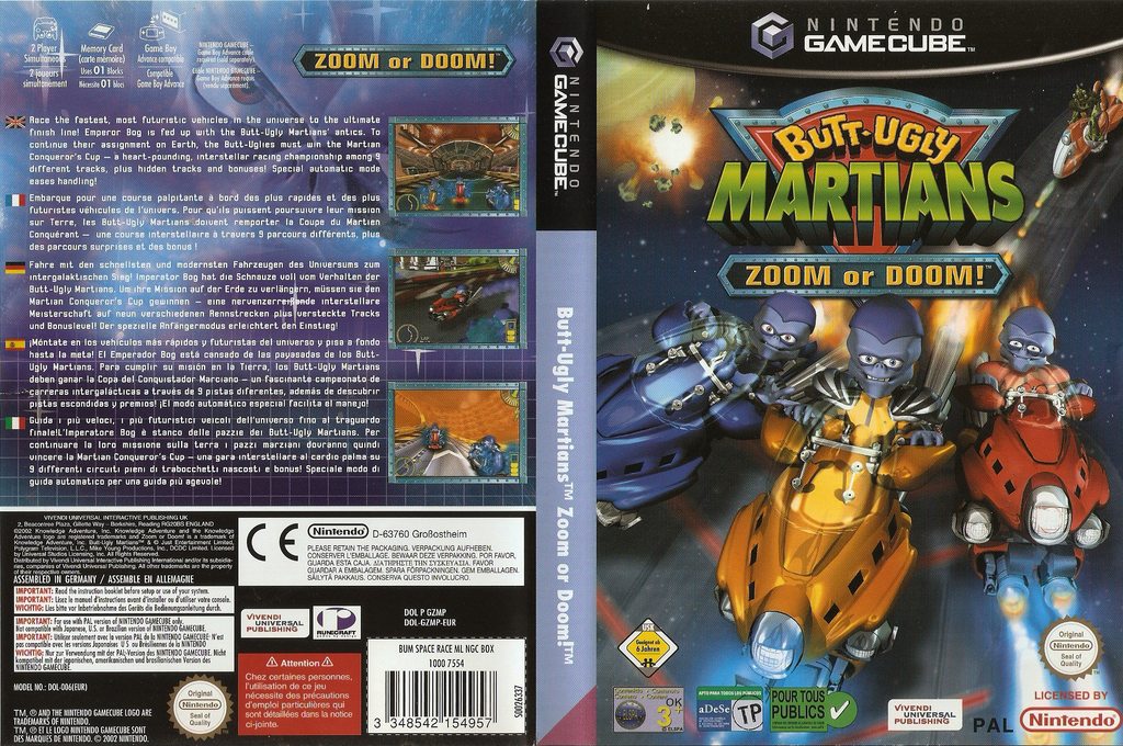 Butt-Ugly Martians Zoom or Doom Wii coverfullHQ (GZMP7D)