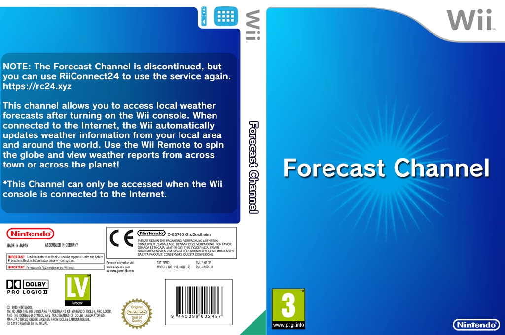 Forecast Channel Wii coverfullHQ (HAFP)