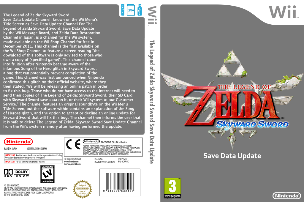 The Legend of Zelda Skyward Sword Update Wii coverfullHQ (HCRP)