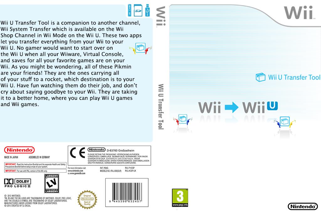 Wii U Transfer Tool Wii coverfullHQ (HCSP)