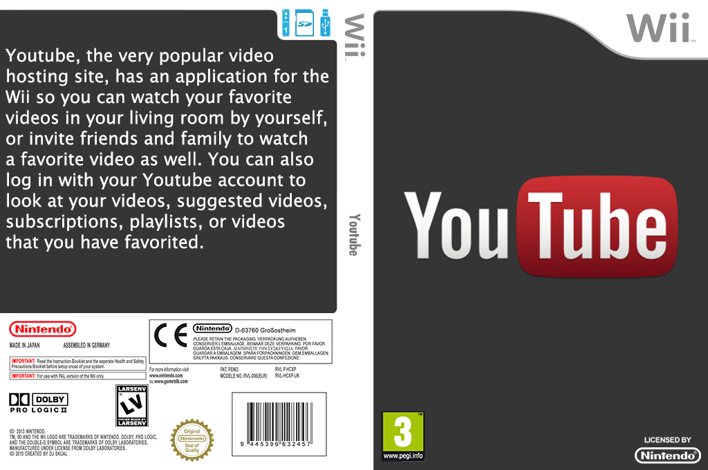 YouTube Wii coverfullHQ (HCXP)