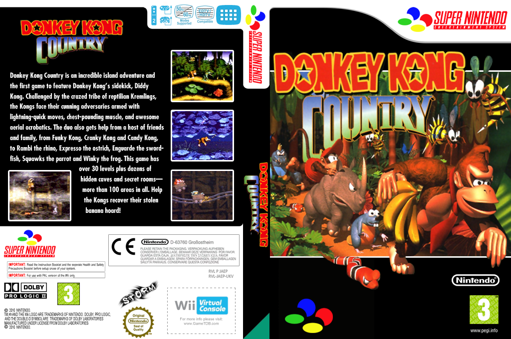 Donkey Kong Country Wii coverfullHQ (JAEP)