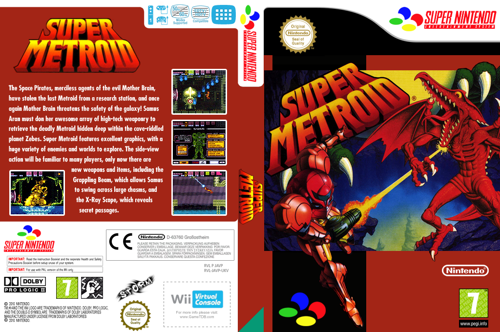 Super Metroid Wii coverfullHQ (JAVP)