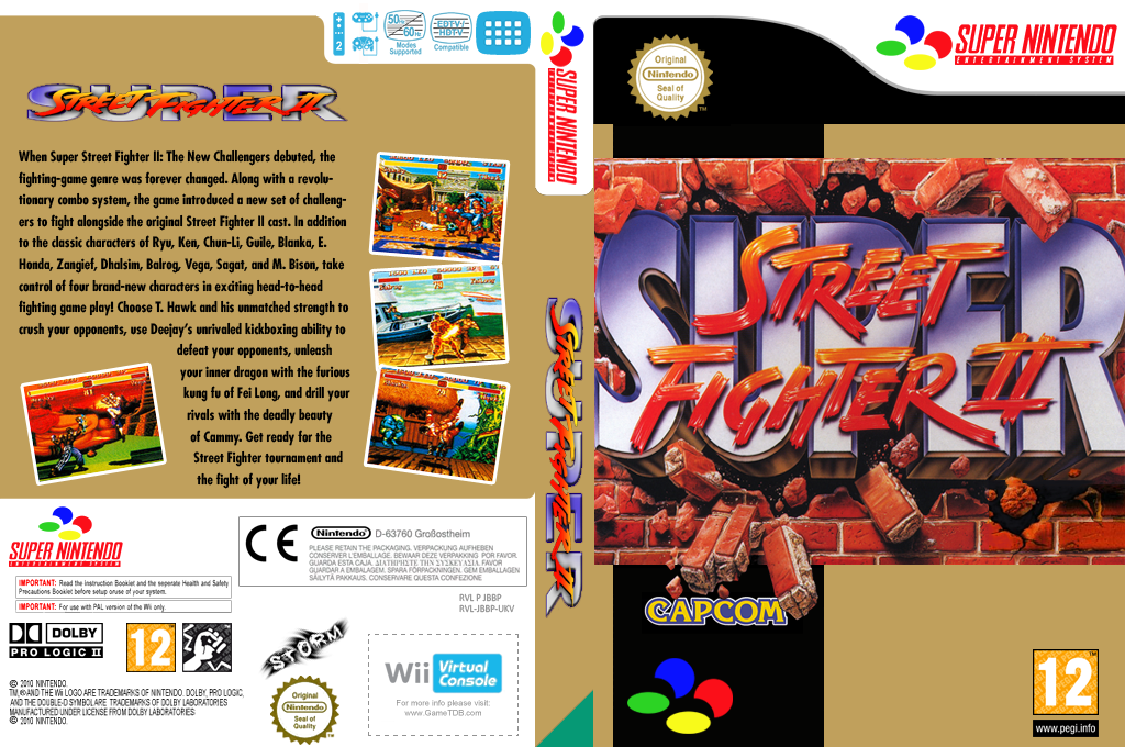 Super Street Fighter II: The New Challengers Wii coverfullHQ (JBBP)