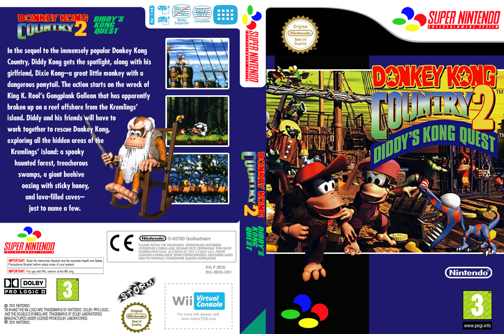 Donkey Kong Country 2: Diddy's Kong-Quest Array coverfullHQ (JBDD)