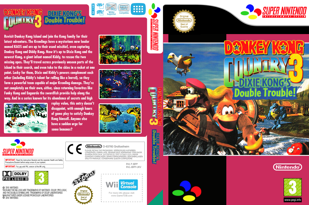 Donkey Kong Country 3: Dixie Kong's Double Trouble Array coverfullHQ (JBPP)