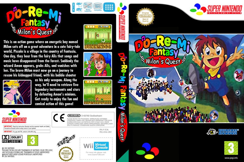 DoReMi Fantasy - Milon's DokiDoki Adventure Wii coverfullHQ (JCAL)