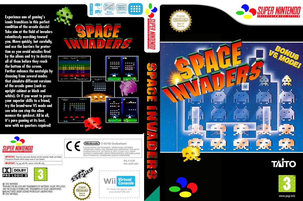 Space Invaders -The Original Game Wii coverfullHQ (JCKP)