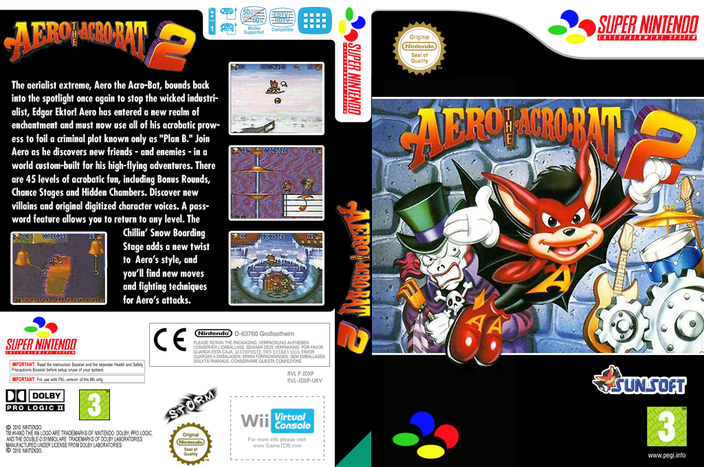 Aero the Acrobat 2 Wii coverfullHQ (JDXP)