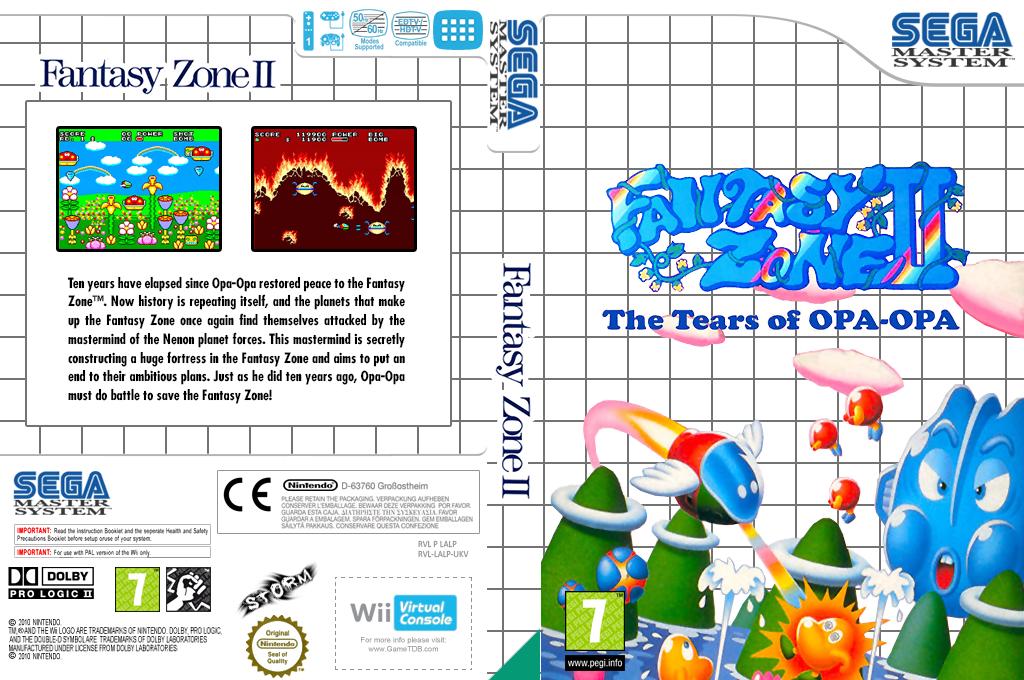 Fantasy Zone II Wii coverfullHQ (LALP)