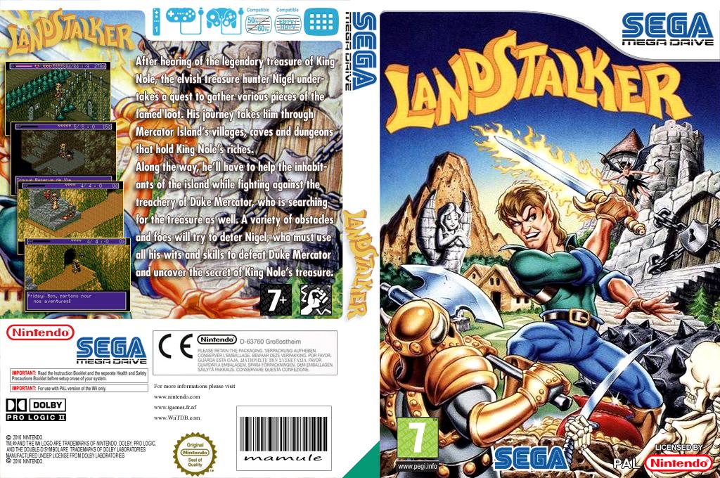 Landstalker: The Treasures of King Nole Wii coverfullHQ (MBIP)