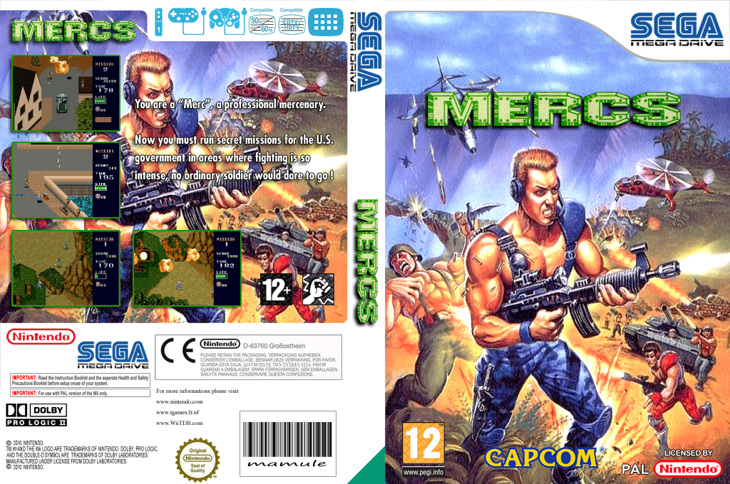 MERCS: Wolf of the Battlefield Wii coverfullHQ (MCRP)