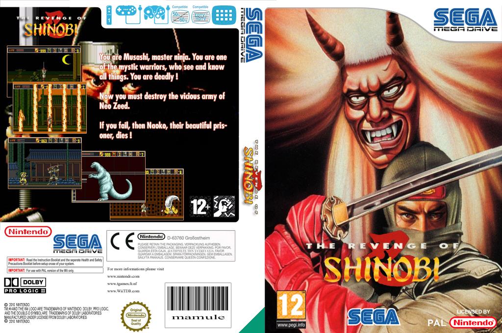 The Revenge of Shinobi Wii coverfullHQ (MCYP)